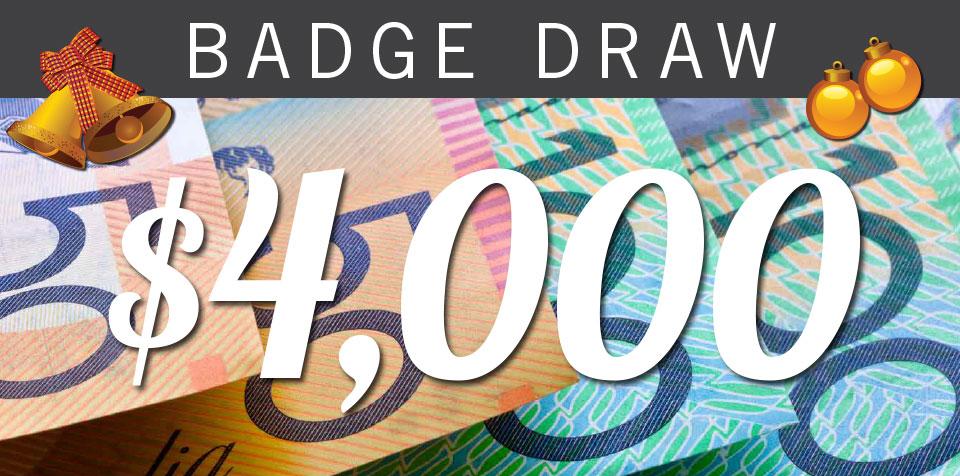 Tues 5 December – $4000