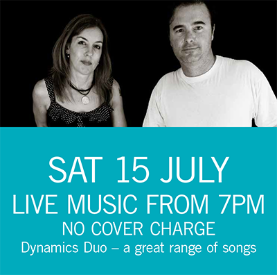 Dynamics Duo Sat 15 July 7pm
