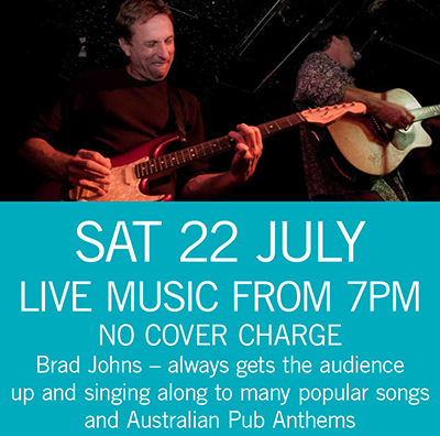Brad Johns Sat 22 July 7pm