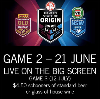 Origin 2017 - Game 2. WEDS 21ST JUNE