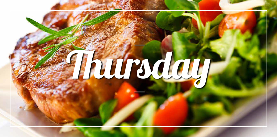 THURSDAY MEAL SPECIAL