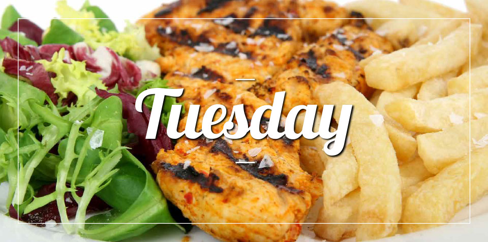 TUESDAY MEAL SPECIAL