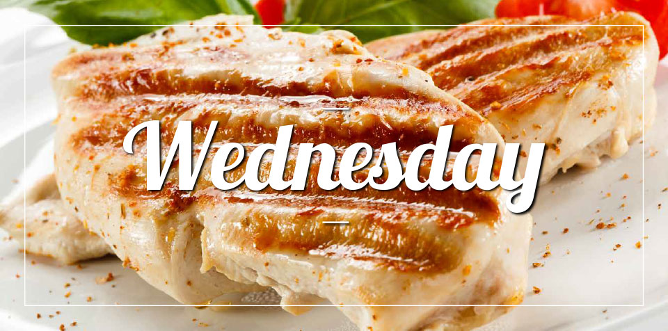 WEDNESDAY MEAL SPECIAL